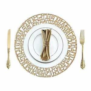 Gold Placemats Round Place Mat Kitchen Dining Table Mat Wedding Table Decor