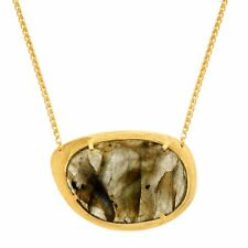 Piara 18 ct Labradorite Necklace in 18K Gold-Plated Sterling Silver