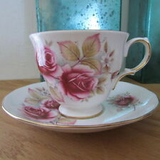 Vintage Queen Anne Bone China Teacup & Saucer Pattern 8619 Hard To Find
