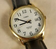 Classic Timex Indiglo White Dial Big Numbers Mens Watch 35mm T2H291 See Pics