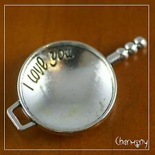 """Huge Frying Pan charm ~ """"I Love You"""" chef gift fry skillet cooking cook wok"""