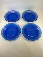 Cobalt Blue Salad Dessert Plates set 4