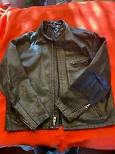 Schott NYC Mens 141 Black Racer Leather Motorcycle Jacket Size 50 Made in USA