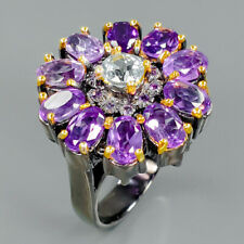 Shopping Jewelry Natural Amethyst 925 Sterling Silver Ring Size 7.25/R92684