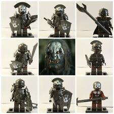 Señor De Los Anillos Hobbit 8 Mini Figuras Uruk Hai orcos cinco ejércitos mordor sauron