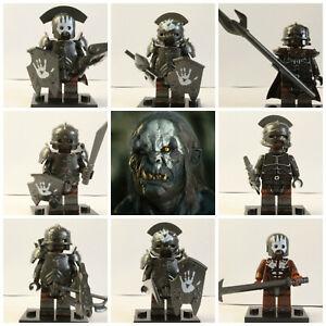 Lord Of The Rings Hobbit 8 Mini Figures Uruk Hai Orcs Five Armies Mordor Sauron