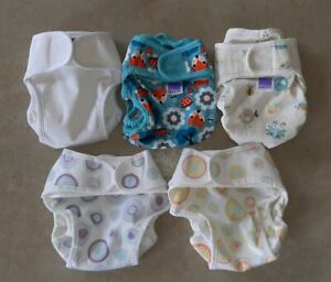 PRELOVED Bambino Mio Mioduo Newborn Reusable Modern Cloth Nappies All in Two x 5