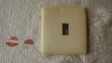 New listing Vintage French Beige Enamel Silver Color Cigarette Case Box