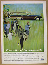 1962 Ford COUNTRY SQUIRE Station Wagon illustration art vintage print Ad