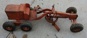 Nylint 50's Orange Grader Pressed Steel Heavy Duty