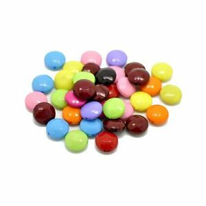 Acrylic Puffed Coin Mixed 14mm Beads, 90 Pack (1.2mm Hole)