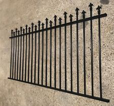 Aluminium Garden Fence Panel - High/Low Spear Black Fencing