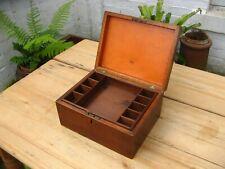 Antique Victorian Mahogany Jewellery Box