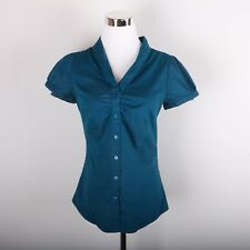The Limited Button Front Casual Dress Shirt Women's XS Blue