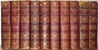 LEATHER Set;Works of ROBERT LOUIS STEVENSON!Treasure Island Complete 1910! RARE!