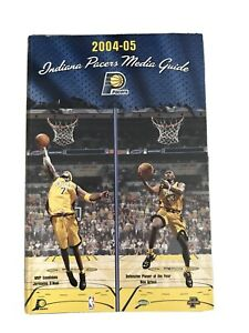 Indiana Pacers 2004-2005 Media Guide NBA Ron Artest Jermaine O'Neal