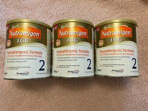 3 x Nutramigen 2 Formula milk (400g each) LGG MEADJOHNSON NEW SEALED