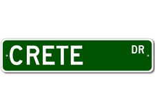 CRETE Street Sign - Personalized Last Name Signs