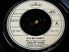 """LESLEY GORE - IT'S MY PARTY / JUDY'S TURN TO CRY  7"""" VINYL"""