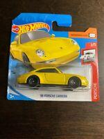 2020 Hot Wheels SHORT CARD * '96 Porsche Carrera - 72/250 Yellow