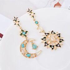 Elegant Hot Sale Fashion Jewelry Moon Sun Pattern Earrings Women Girls