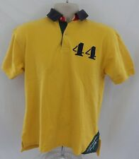 Vintage Yellow Tommy Hilfiger Sailing Gear Large Flag Polo Shirt Size S/P