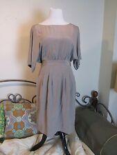 NWT $238 BCBG Max Azria Stretch Silk Dress Size Small Hazelnut-Missing Belt