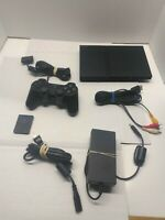 Sony SLIM PS2 Console SCPH-77001 w/ OEM Controller, Memory Card & Cords TESTED!