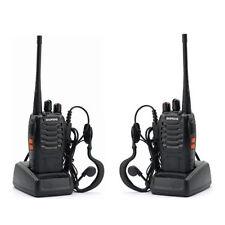 2 x Baofeng BF-888S UHF 400-470 MHz CTCSS Two-way Ham Radio 16CH Walkie Talkie