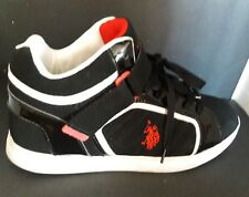 U.S. POLO ASSOC. Men's Supe P Hi Top Sneakers Size 11M  #217353A48 Black Suede