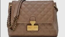NEW MARC JACOBS BAROQUE Made In ITALY Large Dark Beige Leather $1050