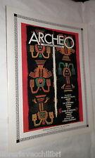 ARCHEO N 10 Dicembre 1985 Scavi Tharros Acquedotto Bologna Cina Qin Shi Huang Di