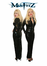 Misfitz black rubber latex hobble skirt 2 way zip, sizes 8-32 or made to measure