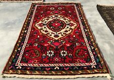 Authentic Hand Knotted Vintage Hamidoun Wool Area Rug 3 x 2 Ft (8550 Bn)