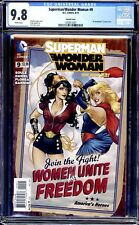 SUPERMAN/WONDER WOMAN #9 CGC 9.8 WHITE PAGES BOMBSHELL VARIANT