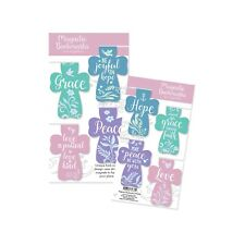 AngelStar Pack of 4 Pastel Cross Magnetic Bookmarks