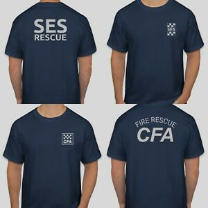 Reflective Navy T-Shirts... Fire Rescue/Search & Rescue/CFA/SES/AIRCREW