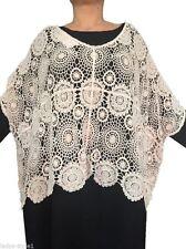 3/4 Arm Damen-Pullover & -Strickware im Ponchos-Stil aus Baumwolle