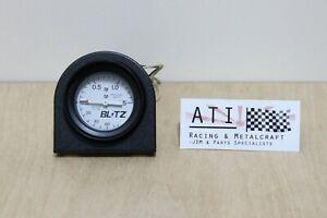 Rare JDM Vintage BLITZ Racing Turbo Boost Vacuum Gauge White , 52mm