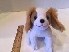 """2012 Barbie Princess & The Popstar 6"""" Plush Dog white & tan, tush tag"""