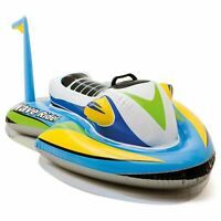 INFLATABLE WATER JET Ride On Summer Float Swimming Pool Toy Kids Play New