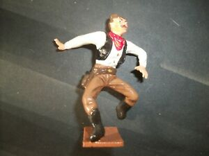 PAINTED 60MM SOLID WHITE METAL COWBOY