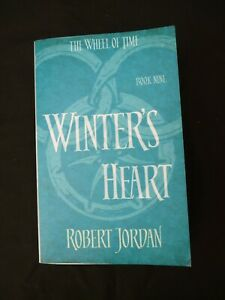 """Book. The Wheel of Time Book 9 Winter's Heart by Robert Jordan. """"Signed as photo"""