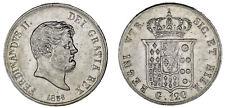 120 GRANA. Ag. FERDINAND II NAPLES / FERNANDO II NÁPOLES. 1856. XF+/EBC+. BONITA