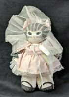 Vintage Applause Dolly Cat by Dustyn Shear 1988 Pink Dress Blue Eyes with Tag