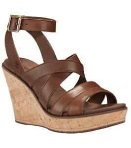 TIMBERLAND WOMEN'S DANFORTH CORK WEDGE SANDALS STYLE TBOA1P3A SIZE 9M