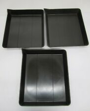"""Vtg 3 Ace American Hard Rubber Photography Trays Photo Developing Pan 18""""x15"""""""