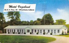 Wheatland Indiana 1950-60s Postcard Motel Vagabond on US Hwy 50