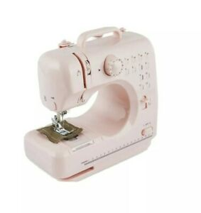 So Crafty Midi Sewing Machine Pink Lightweight For Beginners 12 Stitch Patterns