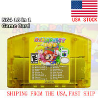 HOT 18 in 1 Mario Party 1 2 3 + 15 NES Edition Games n64 MultiCart Fast Ship US